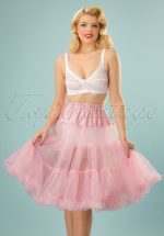 50s retro Petticoat chiffon Dolly Pink