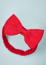 50s Dionne Bow Head Band in Lipstick Red
