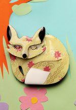 60s Sacha Sleeping Fox Brooch