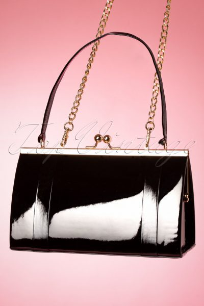 50s The Perfect Date Evening Bag in Black