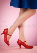 50s Bettie Pumps in Red