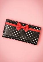 50s Carla Bow Polka Purse in Black and Red