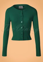 50s Dolly Cardigan in Dark Green