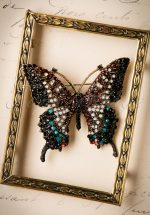 20s Imperial Butterfly Hair Clip and Brooch in Gold