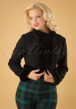 50s Marcia Bolero Jacket in Black