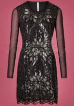 20s Lillian Sequin Dress in Black