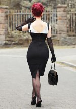 50s Jazmin Pencil Dress in Black