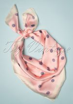 50s Rozanne Polkadot Scarf in Light Pink