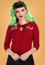 50s Charlene Rock Roll Cardigan in Red