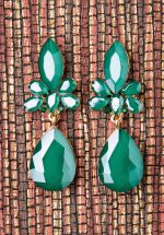 20s Geraldine Earrings in Sea Green
