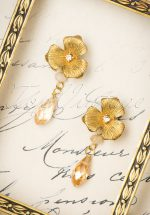 20s Honey Rose Drop Earrings in Gold