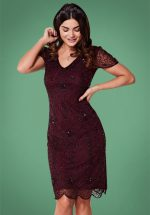 20s Downton Abbey Flapper Dress in Plum
