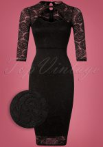 50s Georgia Lace Dress in Black