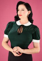 40s Khloe Top in Green