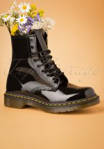 1460 Lamper Patent Ankle Boots in Black