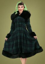 30s Pearl Coat in Blackwatch Check