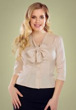 40s Andra Plain Blouse in Cream