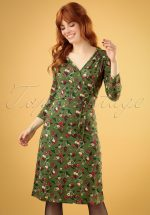 60s Cecil Kansas Dress in Olive Green