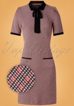 60s British School Dress in Red and Black