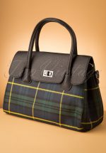 50s Allegra Tartan Handbag in Black
