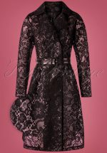 50s Lucinda Lace Raincoat in Black