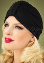 40s Lamarck Turban in Black