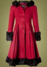 30s Elvira Coat in Burgundy