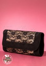 50s Charleston Lace Clutch in Black