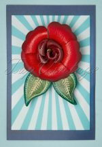 60s Primrose Brooch in Red