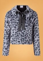 60s Fabulous Leopard Swing Fur Jacket in Grey