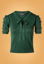 40s Elaine Bow Sweater in Green