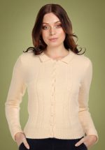 40s Cara Cardigan in Cream