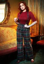 40s Glinda Westie Check Trousers in Multi