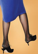 50s Est Metallic Pattern Tights in Black