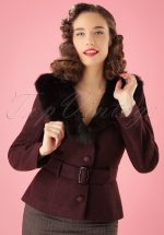 40s Molly Jacket in Wine