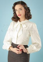 40s Beccy Blouse in Ivory