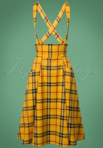 50s Alexa Clueless Check Swing Skirt in Yellow