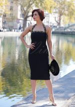 50s Candy Pencil Dress in Black