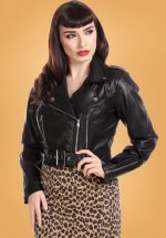 50s Lana Biker Jacket in Black