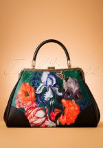 50s Forest Retro Handbag in Black