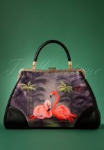 50s Flamingo Handbag in Black