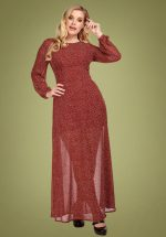 70s Mariana Polkadot Maxi Dress in Red