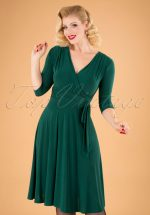 50s Cassandra Midi Dress in Green