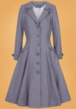 50s Alyssa Swing Coat in Grey