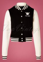 50s College Jacket in Black and White