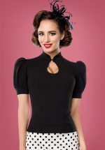 50s Fenna Top in Black