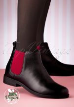 60s Allison Airy Chelsea Boots in Black