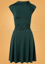 50s Bridget Bombshell Dress in Spruce Green