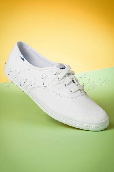 50s Champion Core Text Sneakers in White