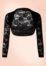 50s Lace Rose Bolero in Black